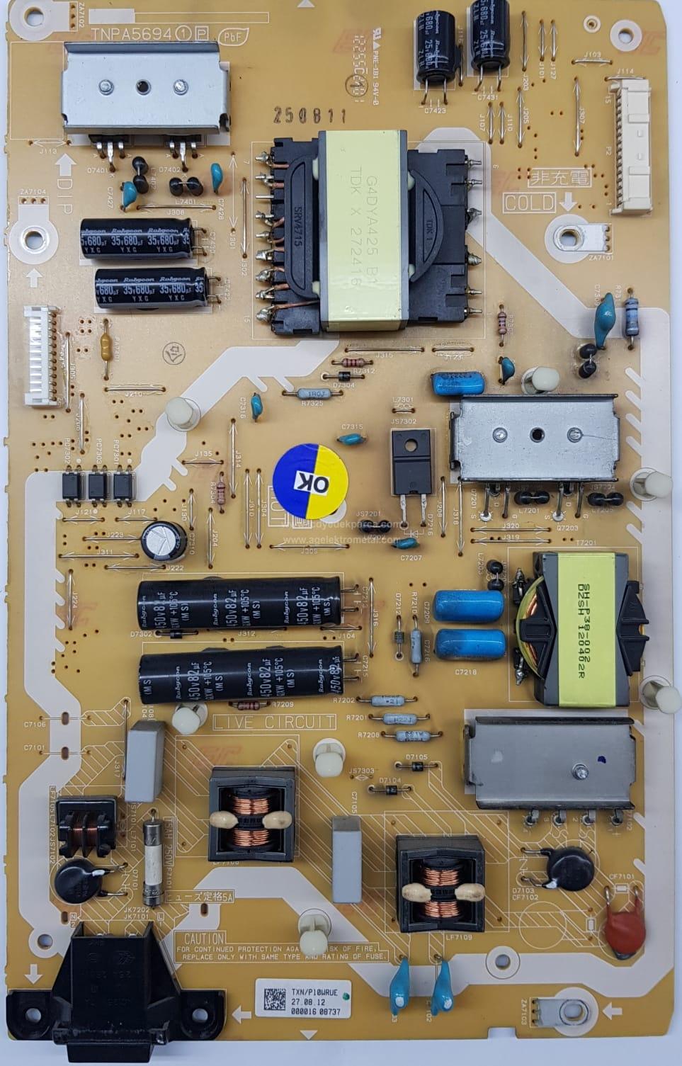 TNPA5694 1 P , TXN/P10WRUE , PANASONIC , LC600EUD FE F2 , TX-L60ETSE , Power Board , Besleme Kartı , PSU